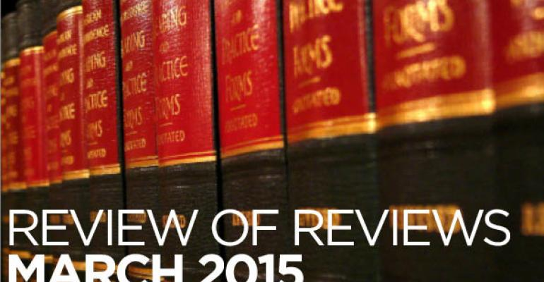"Review of Reviews: ""In Partial Defense of Probate:  Evidence From Alameda County, California,"" 103 Geo. L.J. ___ (2015)"
