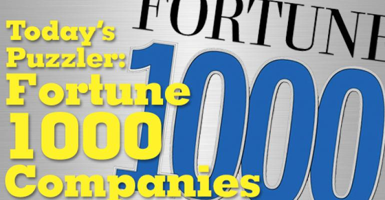 The Puzzler #46: Fortune 1000 Companies