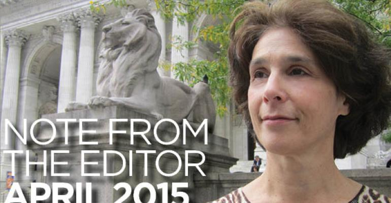 Note From The Editor: April 2015