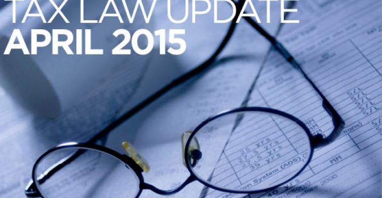 Tax Law Update: April 2015