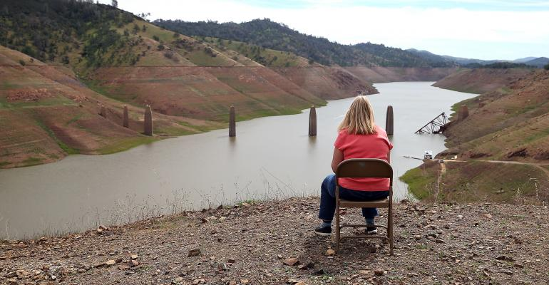 Lake McCLure in California could potentially run out of water in the near future if the severe drought continues The lake is currently at 7 percent of its normal capacity and residents are under mandatory 50 percent water use restrictions