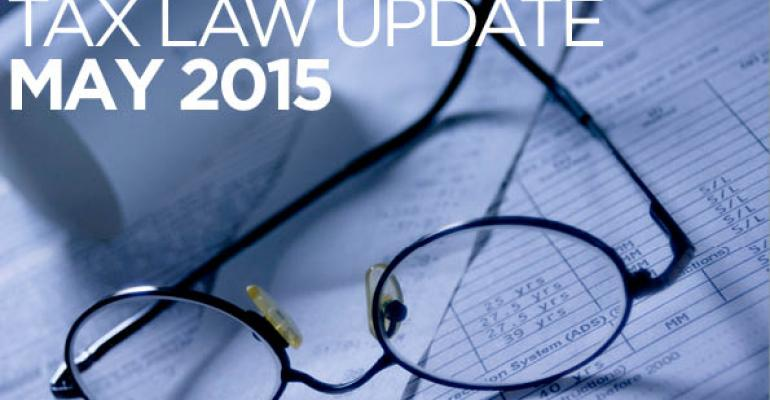 Tax Law Update: May 2015
