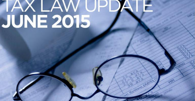 Tax Law Update: June 2015