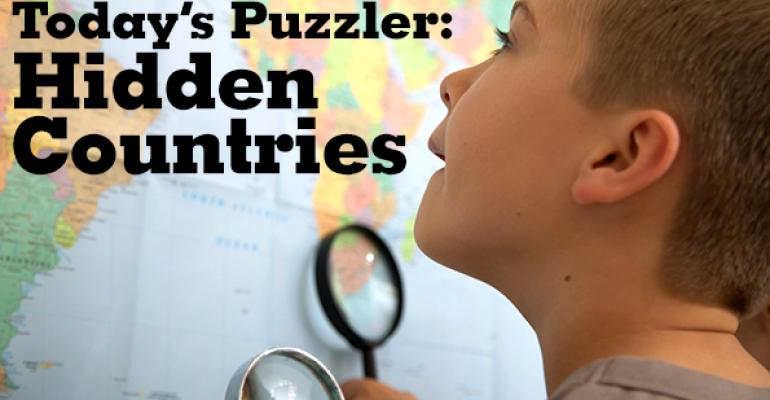 The Puzzler #48: Hidden Countries