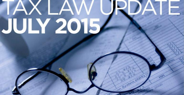 Tax Law Update: July 2015