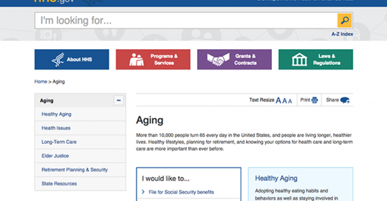 Obama Administration Launches Aging.gov