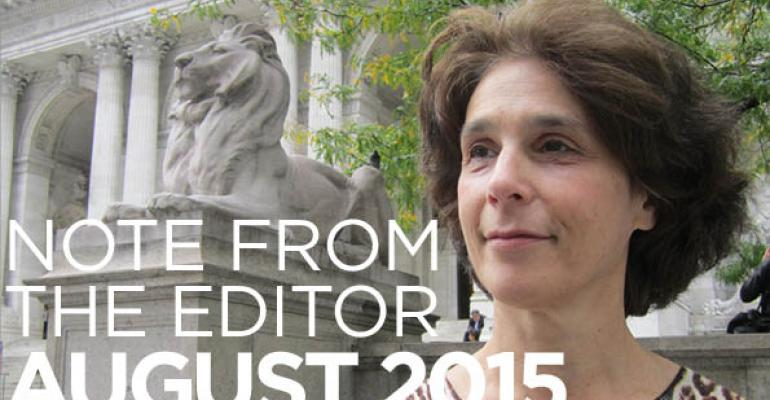 Note From The Editor: August 2015