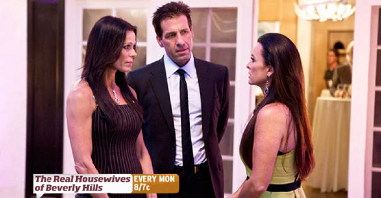 From left Carlton and David Gebbia during a scene from The Real Housewives of Beverly Hills