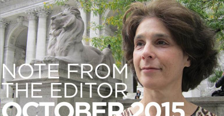 Note From The Editor: October 2015