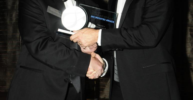 Jay Link a managing director at Merrill Lynch and a member of the managed solutions teams accepted the award for outstanding technology during WealthManagementcom39s Industry Awards gala in September