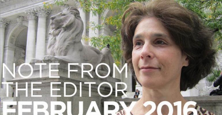 Note From The Editor: February 2016