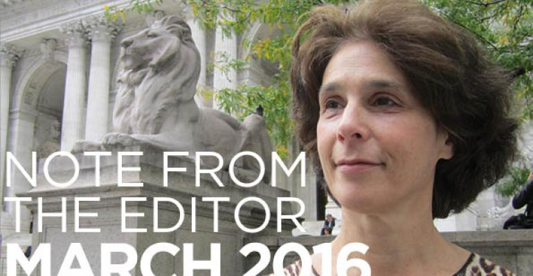 Note From The Editor: March 2016