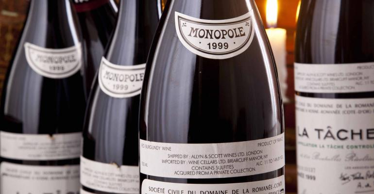 Six bottles of 1999 DRC La Tache sold for 29640 to an internet bidder at Acker Merrall amp Condit39s auction held Jan 23 in Hong Kong China