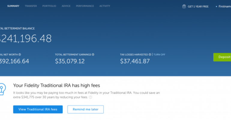 Betterment Announces Account Aggregator