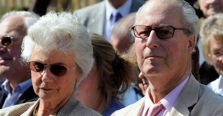 Ian Cameron right and his wife Mary the parents of British Prime Minister David Cameron
