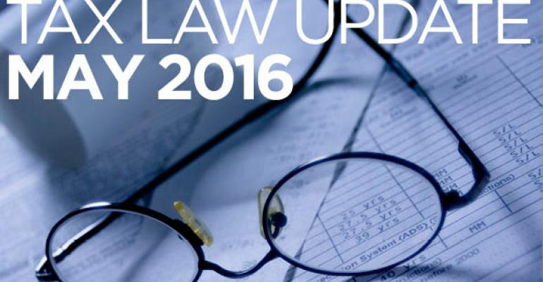 Tax Law Update: May 2016