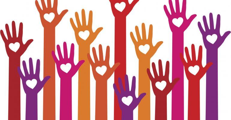 philanthropy hands hearts