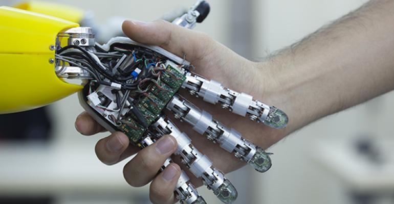 robot shaking hands