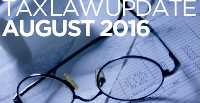 Tax Law Update: August 2016