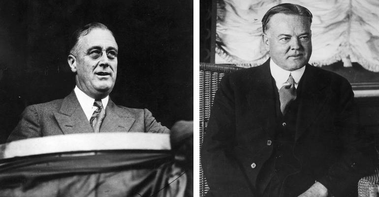 FDR and Herbert Hoover