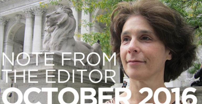 Note From The Editor: October 2016