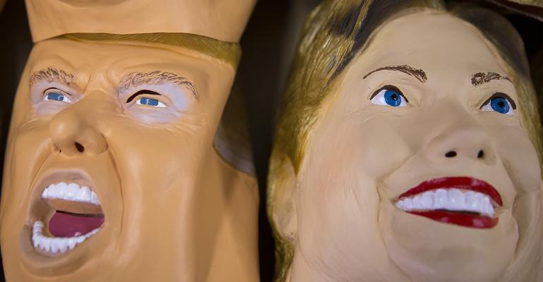 Clinton Trump masks