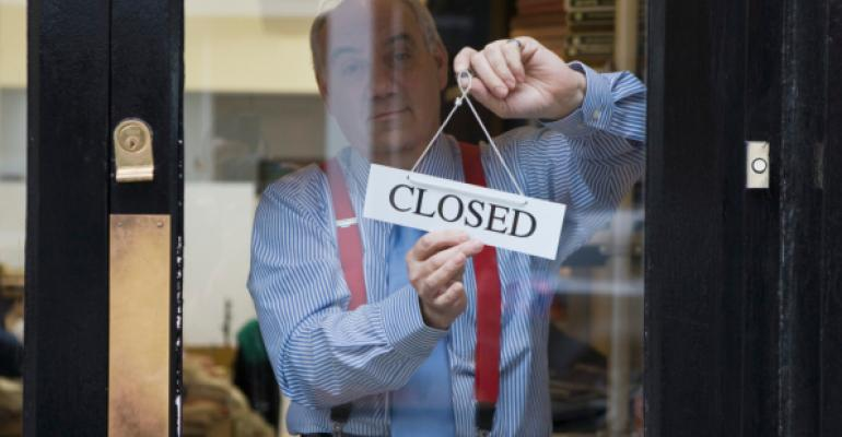small business owner closed