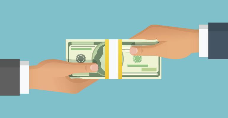handing money over wealth transfer