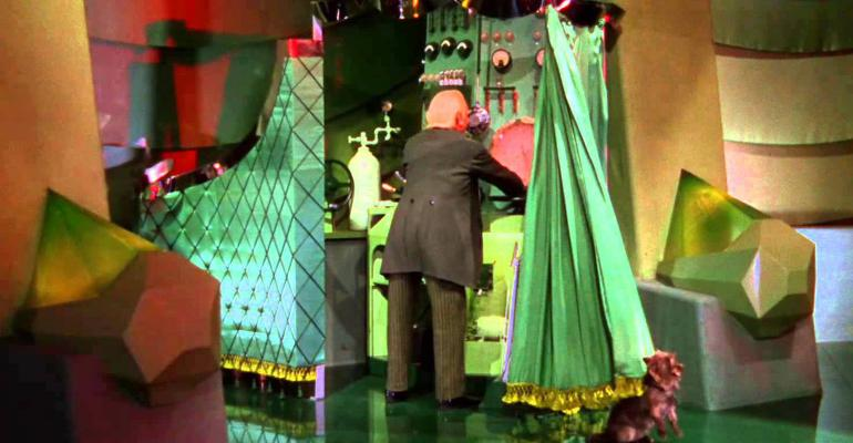 wizard behind curtain