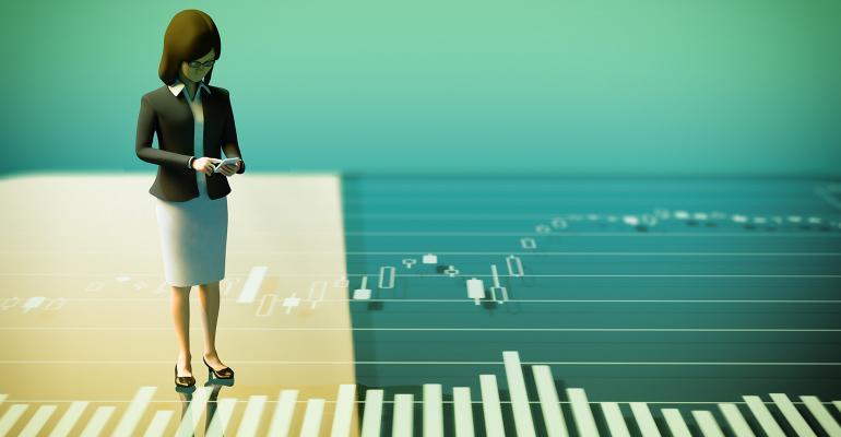 woman stock market
