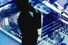 advisor on phone money background
