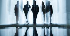 businessmen silhouette
