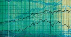 green financial charts