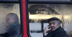 retiree riding the bus