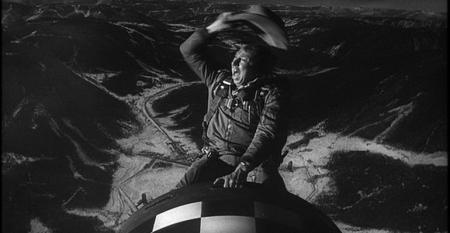 Slim Pickens riding the bomb