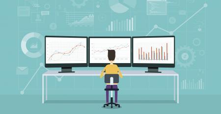 computer monitors illustration