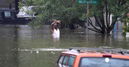 Houston Harvey flooded street