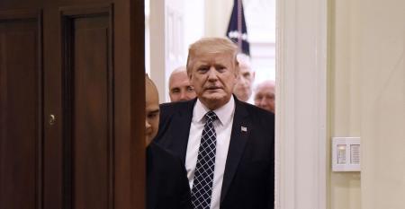 Donald Trump doorway