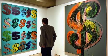 Warhol dollar signs art